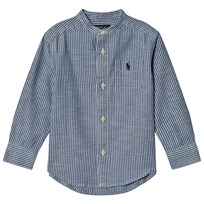 Ralph Lauren Striped Chambray Shirt Blue 001