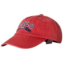 Ralph Lauren Red Polo Logo Baseball Cap 003