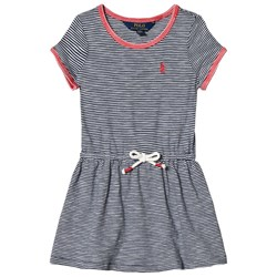 Ralph Lauren Striped Jersey T-Shirt Dress Summer Navy and White
