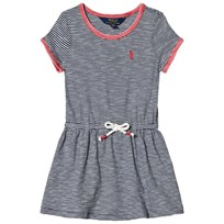 Ralph Lauren Striped Jersey T-Shirt Dress Summer Navy and White 002