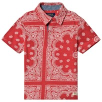Ralph Lauren Red Bandanna-Print Polo 001