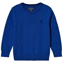 Ralph Lauren Blue Pima Cotton Crew Neck Sweater 005