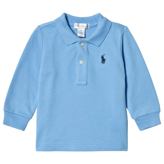 Ralph Lauren Blue Pique Long Sleeve Tee 003