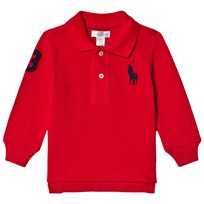 Ralph Lauren Red Pique Long Sleeve Tee 007