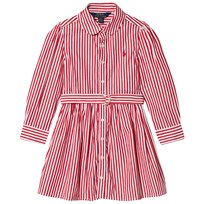 Ralph Lauren Striped Shirt Dress Red/White 005