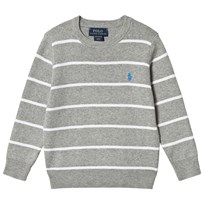 Ralph Lauren Grey Pima Cotton Crew Neck Sweater 002