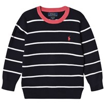 Ralph Lauren Navy Pima Cotton Crew Neck Sweater 001