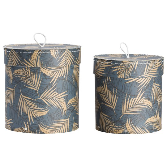 Bigso Box of Sweden 2-Pack Hanna Nesting Storage Boxes Leafy 651 Leafy