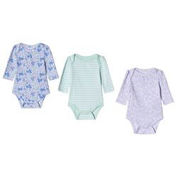 GAP Short Sleeve Baby Body 3-Pack Pale Lilac and Green