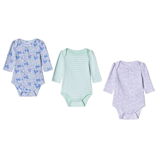 GAP Short Sleeve Baby Body 3-Pack Pale Lilac and Green Pale lilac