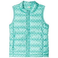 GAP ColdControl Lite Polka Dots Puffer Vest Turquoise POLKA DOTS