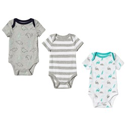 GAP Cuddle and Play Dino Baby Body 3-Pack Light Heather Grey