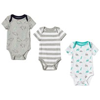 GAP Cuddle and Play Dino Baby Body 3-Pack Light Heather Grey Light Heather Grey B08
