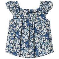 Ralph Lauren Brant Point Floral Flutter-Sleeve Top 001