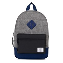 Herschel Kids Backpack Raven Crosshatch/Black/Blueprint Rubber Raven Crosshatch/Black/Bluepri