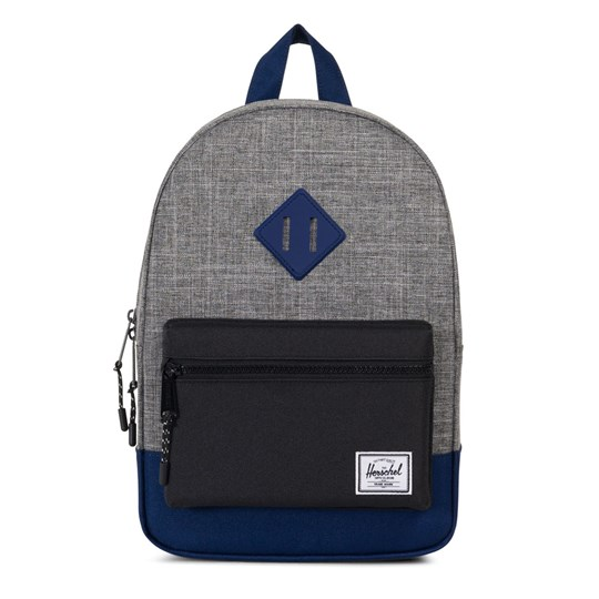 Herschel Heritage Kids Ryggsäck Raven Crosshatch/Svart/Blueprint Raven Crosshatch/Black/Bluepri