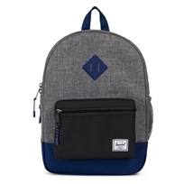 Herschel Heritage Youth Backpack Raven Crosshatch/Black/Blueprint Raven Crosshatch/Black/Bluepri