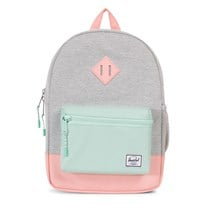 Herschel Heritage Youth Backpack Light Grey Crosshatch/Yucca/Peach Light Grey Crosshatch/Yucca/Pe