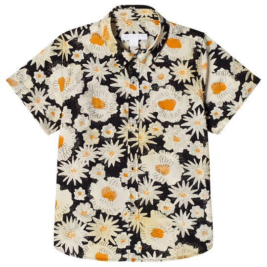 Burberry Short Sleeve Daisy Print Shirt Black Black