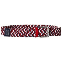 Tommy Hilfiger Red, Navy and White Woven Belt 901