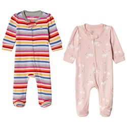 GAP Stripe and Printed Footed Baby Body 2-Pack