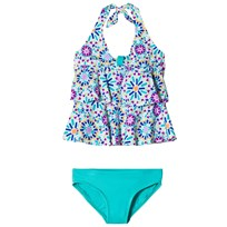 Lands End Multi Print Takini Baddräkt Set Vit 7IU