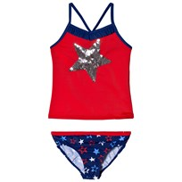 Lands End Silver Star Takini Swimsuit Set 7IX