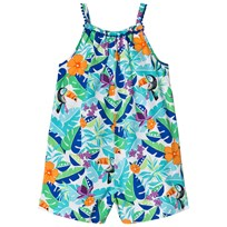 Lands End Multi Tropical Print Romper 7IP