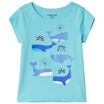 Lands End Whales Embellished Graphic T-shirt Blå 7IZ