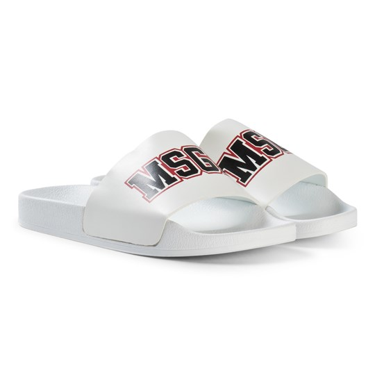 MSGM White Logo Sliders 001