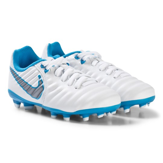 NIKE White Tiempo LegendX 7 Academy FG Football Boot 107