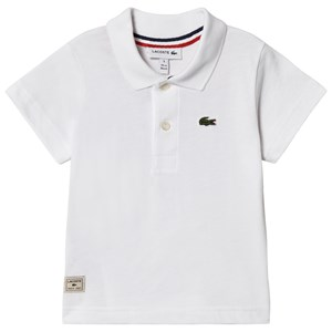 Image of Lacoste White Ribbed Collar Polo 1 year (3056087493)