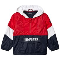 Tommy Hilfiger Navy, Red and White Branded Overhead Jacket 420