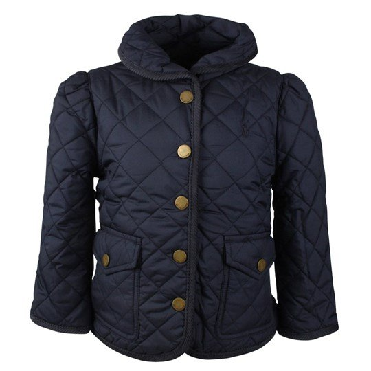 Ralph Lauren Shawl Collar Quilt Jacket Navy Blue