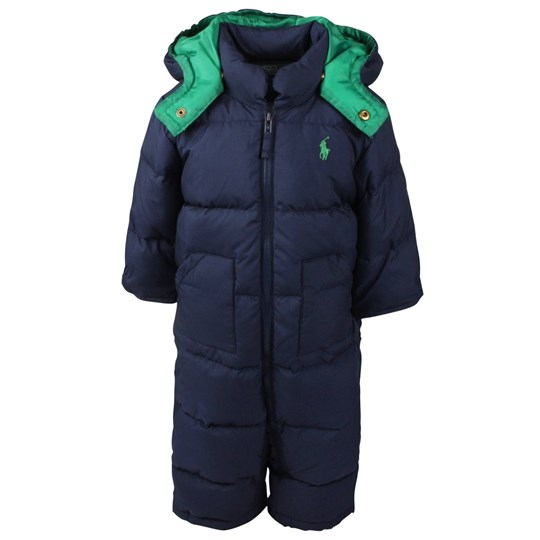 Ralph Lauren Elmwood Down Snowsuit Navy Blue
