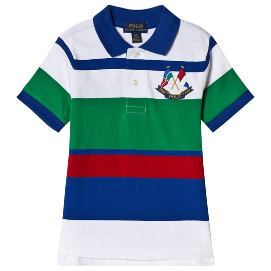 Ralph Lauren Multi Colour Polo with Crossed Flags Logo 001
