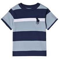 Ralph Lauren Blue and Navy Polo Player Tee 003