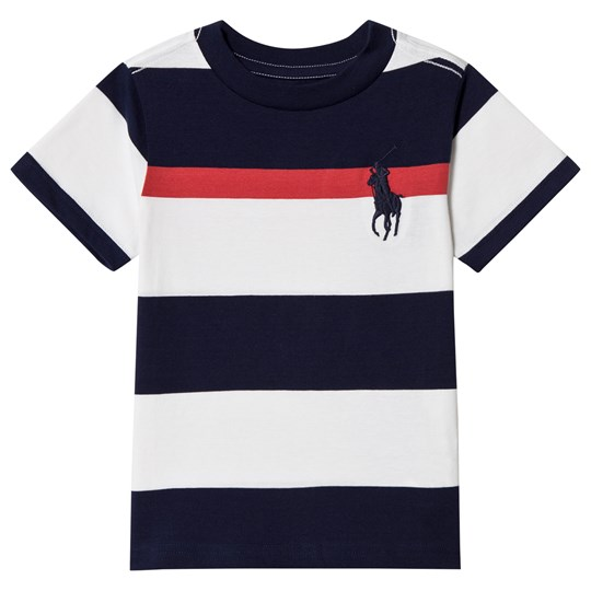 Ralph Lauren Navy and White Polo Player Tee 001