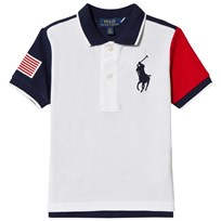 Ralph Lauren White Color Block Polo 001
