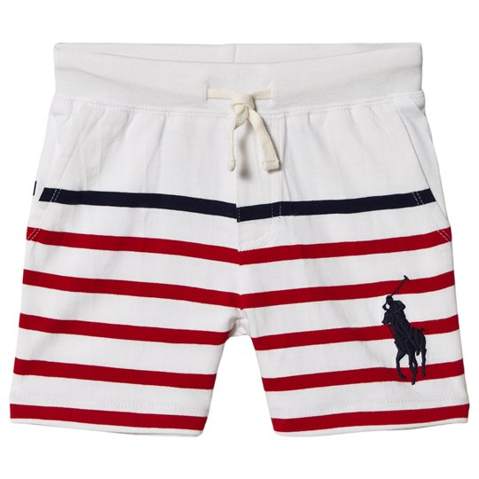 Ralph Lauren White and Red Jersey Shorts 001