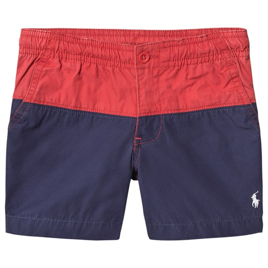 Ralph Lauren Blue and Red Colour Block Shorts 001