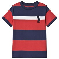 Ralph Lauren Red and Navy Polo Player Tee 002