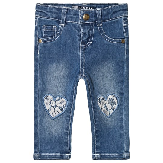 Guess Mid Wash Lace Heart Jeans MISE