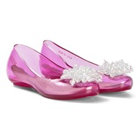 Guess Pink Glitter Brooch Jelly Shoes and Bag PNK