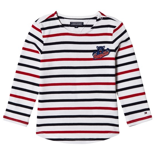 Tommy Hilfiger White, Red and Navy Long Sleeve Tee 123