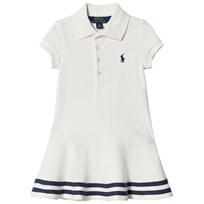 Ralph Lauren Striped Mesh Polo Dress Deckwash White 003
