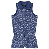 Ralph Lauren Floral Stretch Mesh Romper Navy/Cream Multi 001