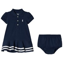 Ralph Lauren Striped Mesh Polo Dress Summer Navy 002