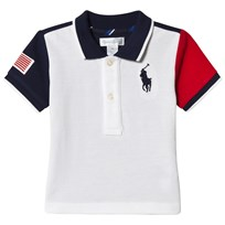 Ralph Lauren White Colour Block Big PP Polo 001