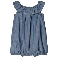 Ralph Lauren Cotton Chambray Bubble Romper 001